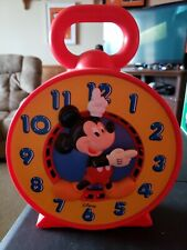 Disney Mickey Mouse Talking Time Clock Pull String See N Say Mattel 1981