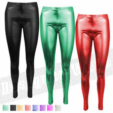 Polyester Wet look, Shiny Leg Warmers for Women