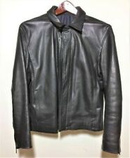 Previously Owned Kenneth Cole Men's Black Leather Jacket Medium Good Condition