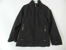 manteau blouson noir Basic One taille 6 ans tbe  (C963)