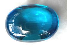 Rare Super Power Turquoise Blue Naga Eye Oval Cave Crystal Gem Amulet BIG SIZE