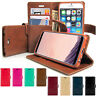 Diary Flip Cover Book Leather Wallet Case Cover for iPhone X /Galaxy S8 9 Note 9