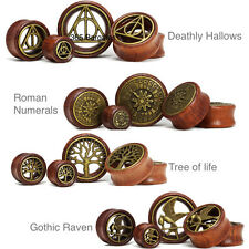 WOOD EAR PLUG TUNNEL TAPER STRETCHER SADDLE WOODEN FLESH BAMBOO - SELECT DESIGN