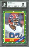 1986 topps #388 ANDRE REED buffalo bills rookie card BGS 9 (9 8.5 9 9)