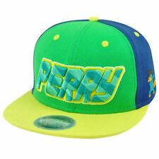 Disney Series Phineas And Ferb Perry Platypus Agent P Snapback Flat Bill Hat Cap