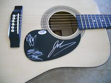 Goo Goo Dolls Band Signed Autographed Acoustic Guitar PSA Certified