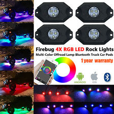 Firebug 4 x Pod RGB LED Rock Light, Neon LED Lights Kit for Jeep Off Road Truck