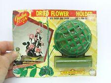 Vintage Old Stock Garden Club Dried Flower Holder Frog