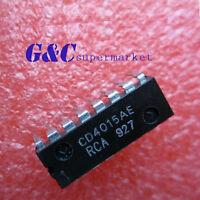 10PCS CD4015BE CD4015 DIP 6pins IC RCA NEW