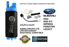 QFS 340LPH Intank Fuel Pump w/Install Kit Stealth 340 Turbine - SUBARU WRX STI