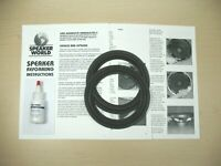 "ADVENT 6""- 6.5"" Woofer Speaker RE-FOAM  Repair Kit Advent  A-1122"