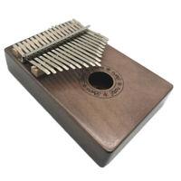 Vintage Mbira Kalimba 17 Keys Thumb Piano Mahogany Wood With Tuner Hammer