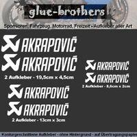Aufkleber Set Akrapovic 6-teilig Farbauswahl Motorsport Decal Sticker Auspuff