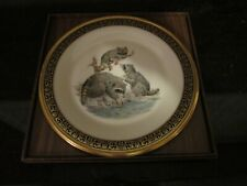 5 Plate Set Of Lenox Woodland Wildlife Plates- Rabbits,Red Foxes, Beavers More