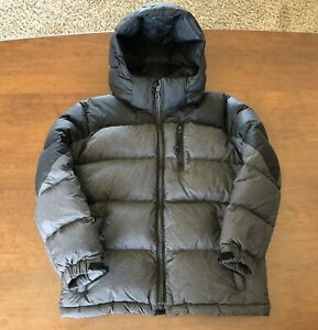 Polo Ralph Lauren Puffy Jacket - Black and Gray, Size 7 Boys