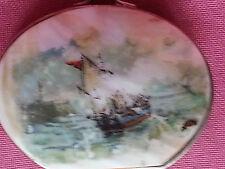 Petit porte monnaie en coquillage nacre décor marine