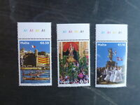 MALTA 2015 NATIONAL FEASTS SET 3 MINT STAMPS MNH