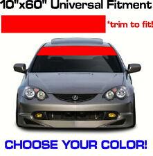"60"" x 10"" Windshield Banner - Choose Color! vinyl sticker decal Sun Strip Visor"