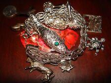 """Amazing Unique Vintage Sterling Silver """"Charm"""" Bracelet.925 (70gr)"""