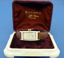 *SERVICED & WARRANTY* MEN  BULOVA 1939-RARE- **LONG CURVEX** WITH DISPLAY CASE