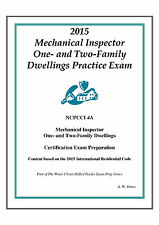 2015 NCPCCI 4A  Mechanical One & Two Family Dwelling Inspector Practice on USB