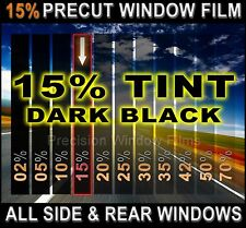 Chevy Silverado, GMC Sierra Crew Cab 07-2013 PreCut Window Tint -Black 15% Film