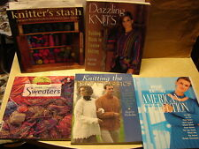 Knitting Books Lot/5 Knitters Stash Vogue American Collections Sweaters Patterns