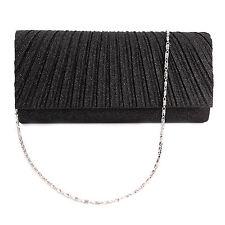 Sparkle Glitter Pattern Satin Women Clutch Bag Bridal Handbag Evening Prom Purse