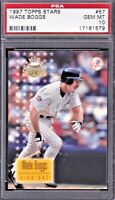 1997 TOPPS STARS #57 WADE BOGGS, NEW YORK YANKEES HOF - PSA 10  - GEM MINT