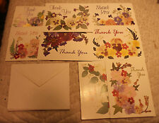 DISABLED PARALYZED AMERICAN VETERANS THANK YOU CARDS & ENVELOPES LOT OF 8 C