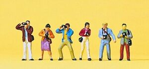 Preiser HO Scale Model Figure/People Set Photographers/Camera Crew 6-Pack