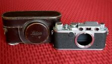 1954 Leica IIf Red Dial 1/1000 FILM TESTED Exc. Condition Orig Leather Case