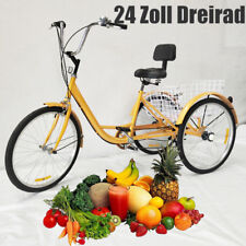 24 ZOLL DREIRAD Fahrrad 7 Gang Dreirad Erwachsene 3 Rad