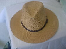 TWIST BELT BAND PANAMA STYLE SUMMER  STRAW HATS