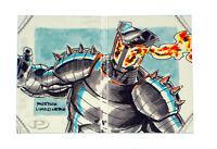 2014 Marvel Premier Destroyer Sketch Card Rustico Limosinero Upper Deck Hinge UD