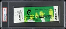 1982 The Rolling Stones Spain Full Ticket (Psa Authentic Slabbed)
