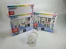 2 Pack EcoBulb Twist Light Bulb 40 Watt Equivalent. 6 lightbulb