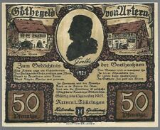 Notgeld - Stadt Artern - 50 Pfennig - 1921(bis Sylvester) - Motiv 2: Elternpaar