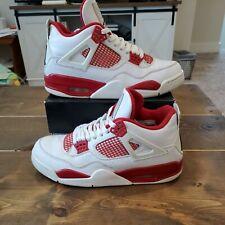 Nike Air Jordan 4 IV Retro Alternate 89  White/Gym Red 308497-106  Size 8.5