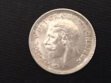 More details for 1926 george v bare head silver.500 sixpence in very high grade e/f condition.