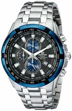 Casio Men's EF539D-1A2 Edifice Stainless Steel Black Dial Chronograph Watch