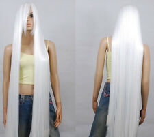 200cm Extra Long wig New White Straight Cosplay Wig