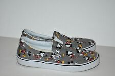 VANS DISNEY MICKEY MOUSE SLIP ON GRAY SHOES CANVAS MEN Size 11