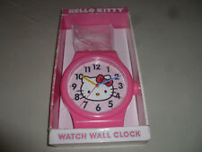 NEW IN BOX HELLO KITTY WALL CLOCK SANRIO BEDROOM PLASTIC 2011 PINK KIDS GIRL NIB