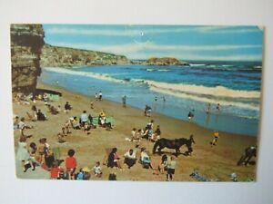 Marsden Beach Nr South Shields 1970s Old Postcard 1971
