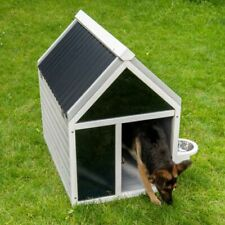 Modern Wooden Dog Kennel Winter Warm House Weather Proof Shelter Outdoor Home