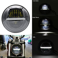 """5.75"""" Motorcycle LED Headlight Daymaker Projector DRL For Harley Davidson Dyna"""