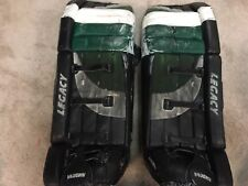 ED BELFOUR 00'01 Dallas Stars NHL Game Worn Used Goalie Leg Pads COA