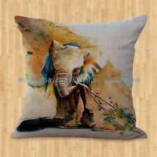US SELLER- lucky elephant animal cushion cover throw pillows for leather couch