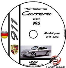 MANUALE OFFICINA PORSCHE 911 CARRERA (996) MY 1997-2006 WORKSHOP MANUAL CD DVD
